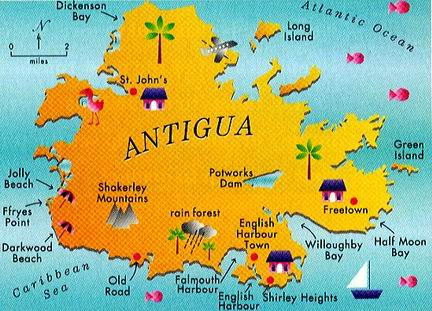 Map Antigua